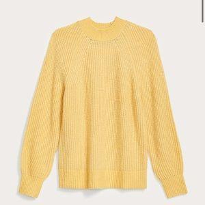 LOFT Stitchy Raglan Sweater NWT